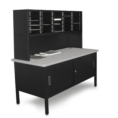 Marvel Office Furniture 25 Adjustable Slot Literature Organizer with Riser and Cabinet