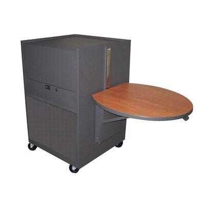Marvel Office Furniture Zapf Office Support Media Center Cart with Steel Door