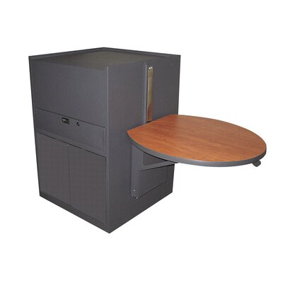 Marvel Office Furniture Zapf Office Support Media Center Cart with Steel Door (Stationary)