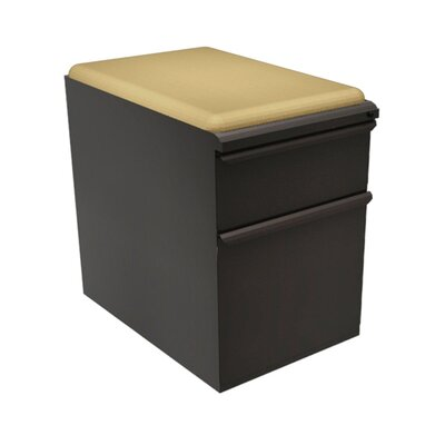 Marvel Office Furniture Zapf Mobile Pedestal File Cabinet with Seat