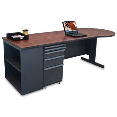 Marvel Office Furniture Teachers 87&quot; Conference Desk with Bookcase