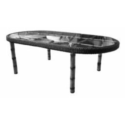 South Terrace Oval Dining Table with Glass Top