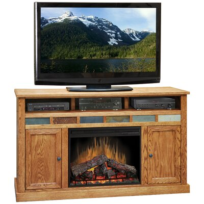 "Legends Furniture Oak Creek 62"" TV Stand with Electric Fireplace"