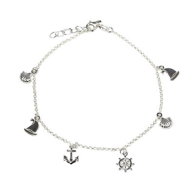 Sterling Silver 10 inches Nautical Anklet