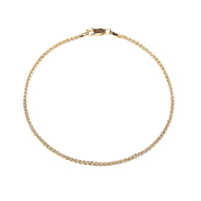 14k Gold over Silver Spiga Anklet