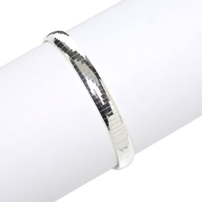 Sterling Silver 8 inches Omega Bracelet