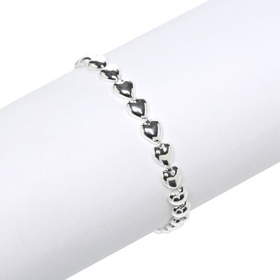Sterling Silver Italian Bracelet with Heart Charm