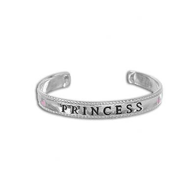 Sterling Silver 'Princess' Adjustable Baby Cuff Bracelet
