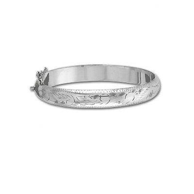 Sterling Silver 7 inches Engraved Bangle