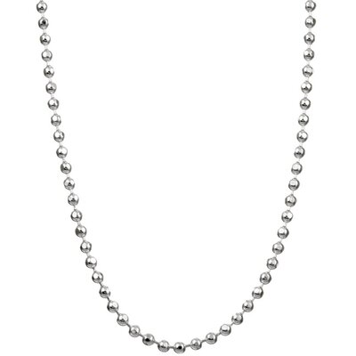 Sterling Silver Diamond-Cut Ball Chain Anklet