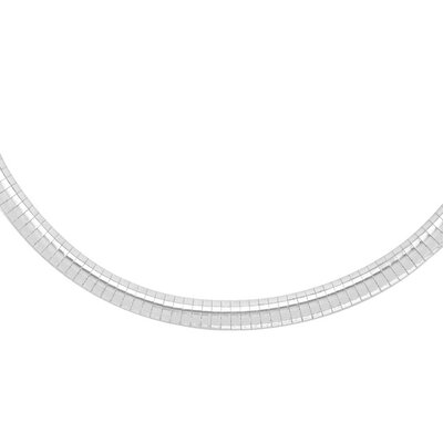 Sterling Essentials Sterling Silver 18 inches Omega Chain