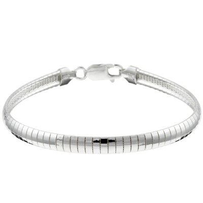 Sterling Essentials Sterling Silver 8 inches Omega Bracelet