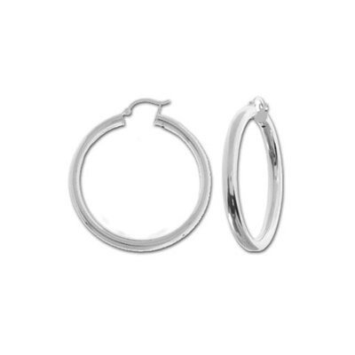 Sterling Essentials Sterling Silver 45mm Hoop Earrings