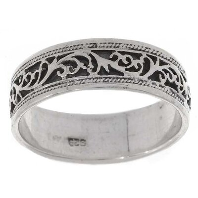 Sterling Silver Vine Antique-style Ring
