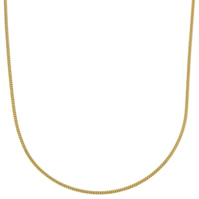Sterling Essentials 14k Gold over Silver Snake Chain