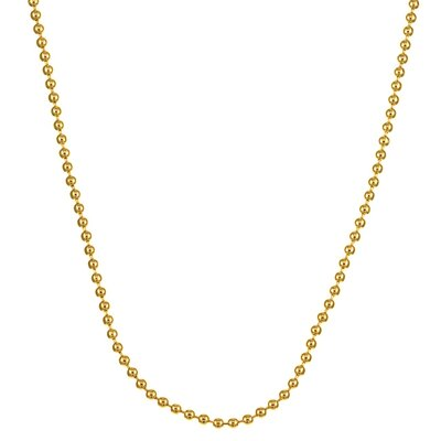 Sterling Essentials 14k Gold over 2mm Silver Ball Chain