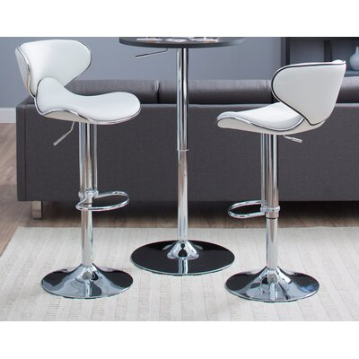 Castleton Home Oxbow Estate Airlift Barstool in White