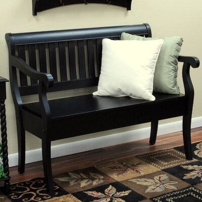 Carolina Cottage Veranda Wooden Entryway Storage Bench