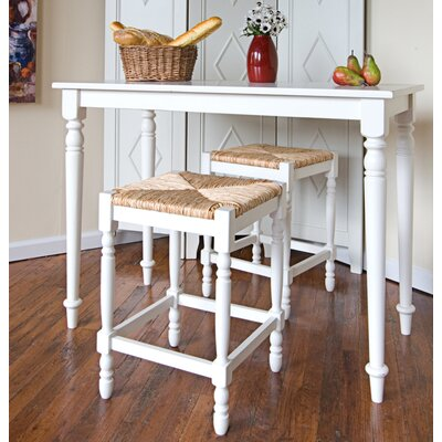 Carolina Cottage Hawthorne 3 Piece Counter Height Dining Set