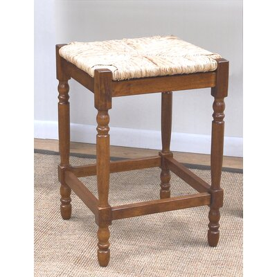 "Carolina Cottage Hawthorne 24"" Walnut Counter Stool"
