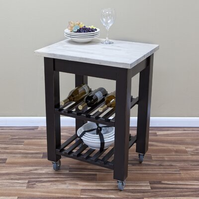 Carolina Cottage Thomas Serving Cart with Butcher Block Top