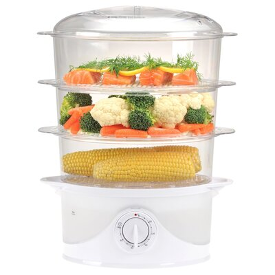 Kalorik 9.5 Quart 3 Tier Food Steamer