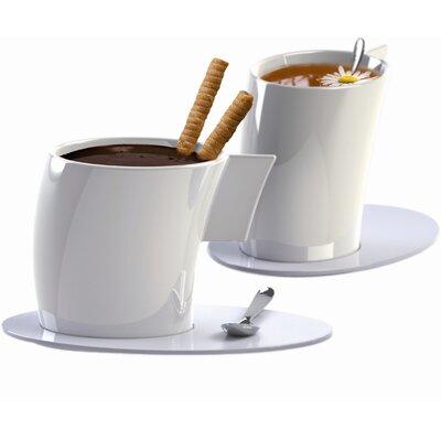 DeaGourmet Vento Tea Cup and Saucer