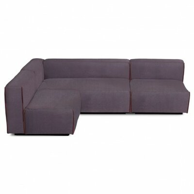 Cleon Medium Sectional Sofa in Ink