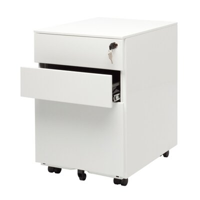 Office 3-Drawer Mobile File Cabinet