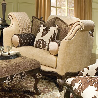 Benetti's Italia Salermo Fabric Chair and a Half and Ottoman