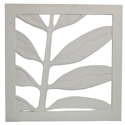 Hand Carved Palm Leaf Two Wall Art
