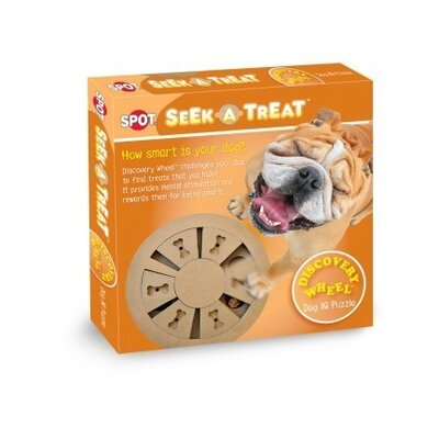 Spot Ethical Seek-A-Treat Discovery Wheel Puzzle Dog Toy