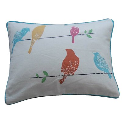 Ashbury Spring Birds Feather Pillow