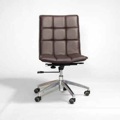 Matrix Gates Mid-Back Leather Office Chair with Swivel