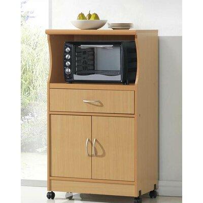 Hodedah microwave cart reviews wayfair for Microwave carts ikea