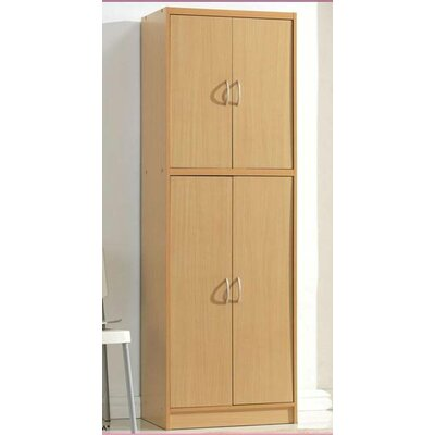Hodedah 4 Door Pantry Cabinet