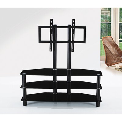 "Hodedah Glass 43"" TV Stand"