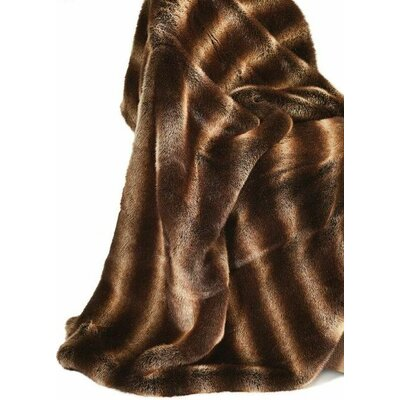 Ital Art Design Fancy Chinchilla Fur Throw