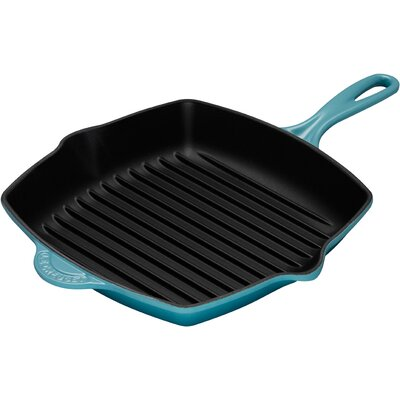 "Le Creuset Cast Iron 10"" Skillet Grill"