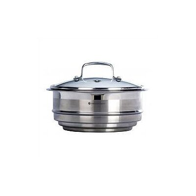"Le Creuset Stainless Steel 8"" Steamer Insert with Glass Lid"