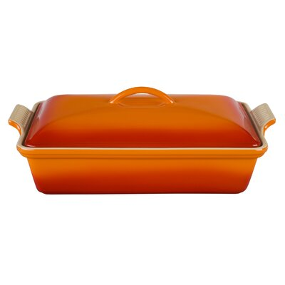 Heritage Stoneware 4-qt. Covered Rectangular Casserole