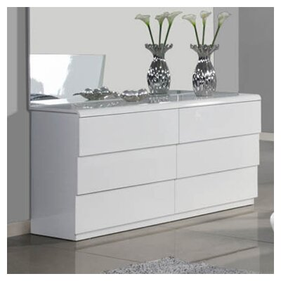 Whiteline Imports Nelly 6 Drawer Dresser