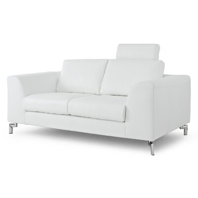 Whiteline Imports Angela Leather Loveseat