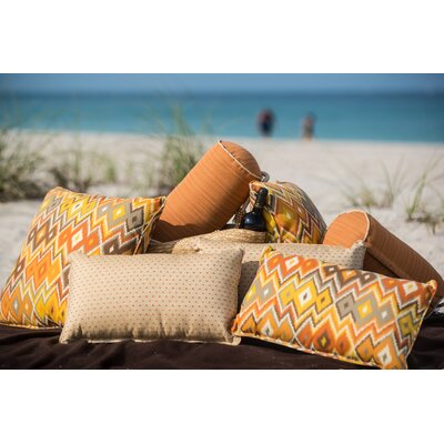 Laurie Bell Siesta Sunset Polyester Lumbar Indoor/Outdoor Pillow