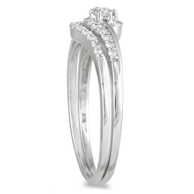 Szul Jewelry 10K White Gold Round Cut Diamond Bridal Ring