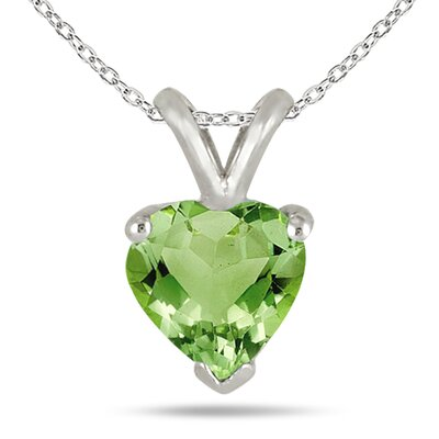 Szul Jewelry Sterling Silver Heart Cut Gemstone Heart Pendant