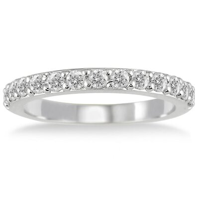 10K White Gold Round Cut Diamond Wedding Ring