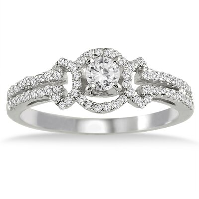 Szul Jewelry 10K White Gold Round Cut Diamond Ring
