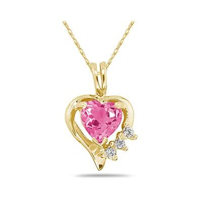 Szul Jewelry Heart Cut Gemstone Heart Pendant