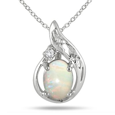 Sterling Silver Oval Cut Gemstone Pendant